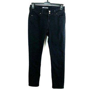 Levis Curvy 529 Skinny Leg Black Jeans size 8